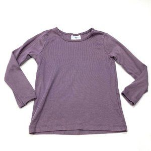 Hanna Andersson Solid Purple Long Sleeve T-Shirt